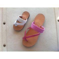 leather sandals girls sandals women's shoes by chicbelledejour (€30) via Polyvore