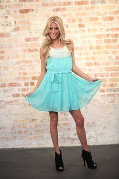 Modern Vintage Boutique - Special Event Pleated Dress Mint, $44.00 (http://www.modernvintageboutique.com/special-event-pleated-dress-mint.html)