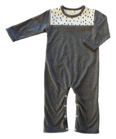 Look what I found on #zulily! Dark Gray Eel Organic Playsuit - Infant by Nui Organics #zulilyfinds