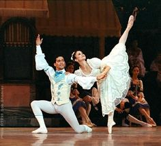 Karen Gabay and Raymond Rodriguez in Cleveland San Jose Ballet's 1998 production of Coppelia.