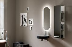 ROCCIA supply this product line: Atollo - Composition AL 543 - Bathroom, Design, Bathroom's furnishings, LED lighting mirrors, Mirrors, Bathroom accessories, Made in italy, Florence, Hotel's project