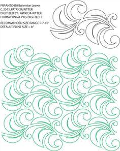 Bohemian Leaves Pantograph by Patricia Ritter PRPANTO438