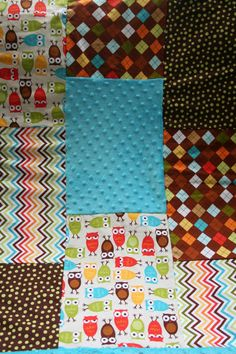 Owl Baby Blanket Quilt by thesaucysparrow on Etsy, $48.00