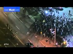 Ferguson protestors pepper sprayed during confrontation