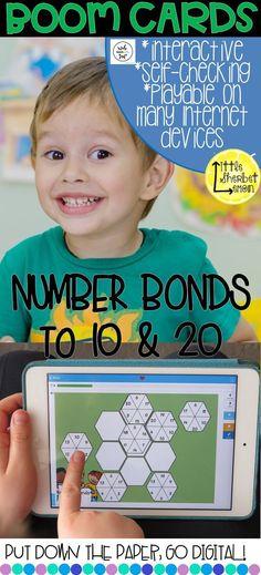 Number Bonds to 10 & 20 Teaching Numbers, Teaching Math, Teaching Resources, Classroom Resources, Teaching Ideas, 1st Grade Math Games, Second Grade Math, Grade 3, Number Bonds To 20