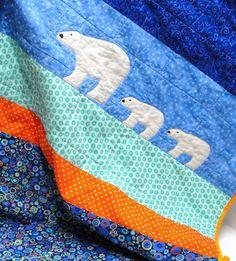 polar bear baby quilt... so cute.