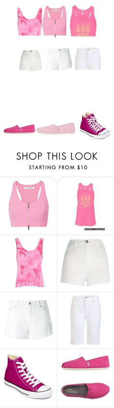 """""""miss las mejores"""" by anainesdiazh on Polyvore featuring Belleza, Elizabeth and James, Glamorous, River Island, Dondup, Golfino, Converse y TOMS"""