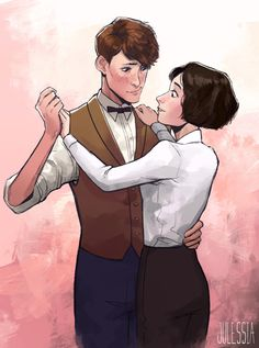 Newt and Tina by julessia