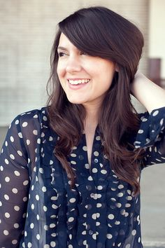 Love polka dots (and how beautiful she is)    10.28.d by kendilea, via Flickr