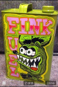 Rat fink fuel hot rod rat rod garage art