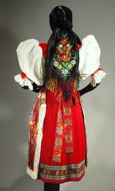 RARE Czech Folk Costume Kroj Bohemian Ethnic Embroidered Shawl Vest Skirt Apron | eBay