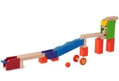 Build a fun colourful ball run with tricks