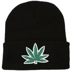 Beanie Marijuana Leaf (26.290 COP) ❤ liked on Polyvore
