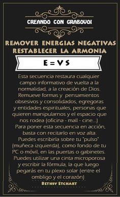 CODIGOS GRABOVOI - REMOVER ENERGIAS NEGATIVAS - E=VS
