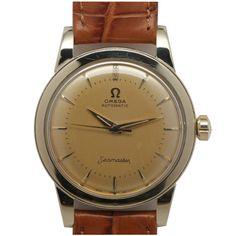 1stdibs | Omega Gold Filled Seamaster Wristwatch circa 1950s