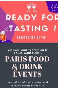 Oloh is hosting some laidback and convivial wine tastings on the Canal Saint Martain at Point Ephemere. At least nine different wines will be up for tasting. 24.90 Euros instead of 29.90 if you get a ticket in advance.  #paris #summer #events #wine #tasting #vin #canal #saintmartin #france #drinks #france