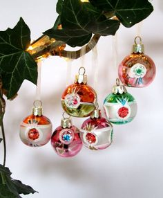 Dimpled mercury glass baubles, vintage style, boxed set of 6 Christmas Tinsel, Christmas Bunting, Christmas Door Wreaths, Christmas Tree Baubles, Vintage Christmas, Jewel Colors, Pumpkin Wreath, Vintage Lettering, Mercury Glass