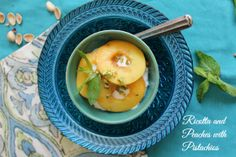 Ricotta and Peaches with Pistachios http://cdiabetesrecipes.com/