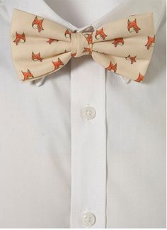 Fox bow tie. I don't know what i'd do if I actually saw a guy wearing this....