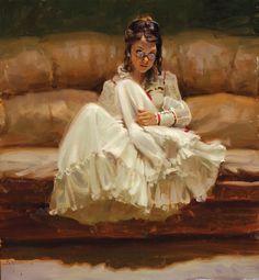 "Kim English   SHOW WORK   ""Spectacles"" 22 x 24"" framed original oil More"