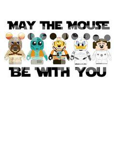 Star Wars Mickey Mouse DIY Printable Jedi Luke Donald  Iron Transfer Pillowcase Shirt Star Tours Minnie Princess via Etsy