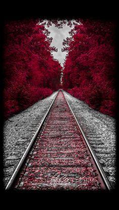 Tren ve kırmızı