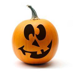 Easy Jack O Lantern Face! Perfect Halloween decoration www.vinylwallart.com