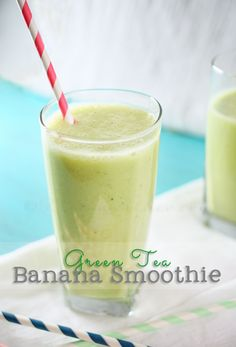 Green Tea Banana Smoothie - This Silly Girl's Life #recipe #tastytuesdays #apeekintomyparadise