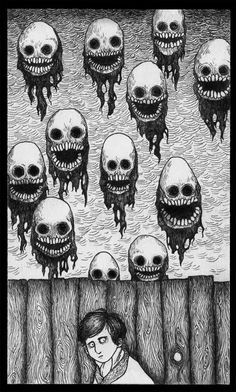 Find images and videos about creepy, don kenn and john kenn on We Heart It - the app to get lost in what you love. Art And Illustration, Illustrations Posters, Monster Drawing, Monster Art, Arte Horror, Horror Art, Dark Fantasy Art, Creepy Drawings, Art Drawings