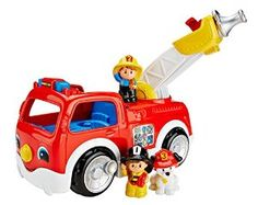 Amazon.com: Fisher-Price Little People Lift 'n Lower Fire Truck: Toys & Games