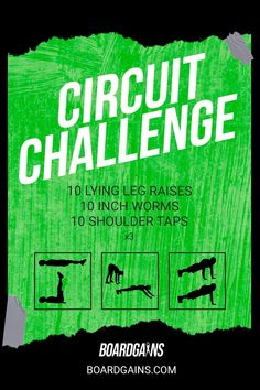 Spice up your workout routine with this circuit challenge. Get your cardio in while doing fun and effective exercises! Fitness Games For Kids, Exercise For Kids, Workout Memes, Workout Guide, Fit Board Workouts, Fitness Workouts, At Home Workout Plan, At Home Workouts, Gym Routine For Beginners
