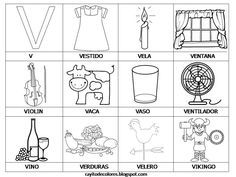 Dibujos Para Colorear Que Empiecen Con La Letra Ch Buscar Con Google Palabras Con V Actividades De Letras Aprendo A Leer