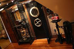 steampunk room.