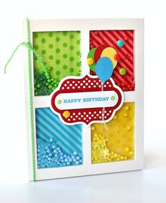 Create fun and colorful shaker cards with ease using Queen and Co's amazing new shaker line!