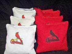 Cornhole bean bags St Louis Cardinals  set of 8 by thisandthatbyv, $24.99
