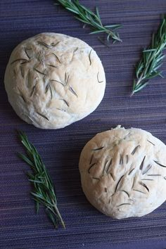 Fresh rosemary bread. Not only delicious but will make your kitchen smell wonderful!