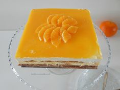 Abrikozen-mascarpone taart met sinaasappel – Liefde voor bakken Trifle, Four, High Tea, Baked Goods, Tiramisu, Cheesecake, Food And Drink, Treats, Cookies