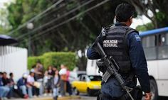 AMERICAN-STYLE REVOLUTION HITS MEXICO:  THEY WANT FREEDOM TOO! Mexican federal police patrol the streets of Guadalajara.