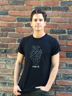 Matt Bomer   Check out this great t shirt @ingridmusic designed. All proceeds from the #UseYourHeartT will go to @TrevorProject! @UseYourHeartTee
