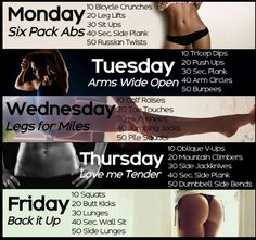 Full week, full body workout