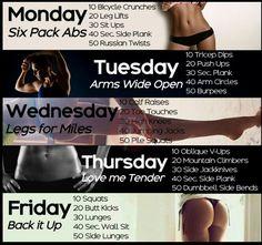 Full week, full body workout