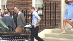 Archive footage of the Duke and Duchess of Cambridge leave the hospital with first-born royal baby son George.