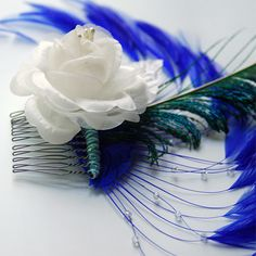 Give a sophisticated touch for a special occasion by adding the stunning feather hair accessories that would flourish your outfit. Pheasant Feathers, Ostrich Feathers, Peacock Feathers, Feathered Hairstyles, Hair Comb, Headdress, Flourish, Feather Hair, Special Occasion