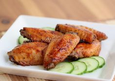 My Kitchen Snippets: Spicy Honey Glazed Baked Chicken Wings
