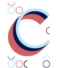 Letter C, wall decal