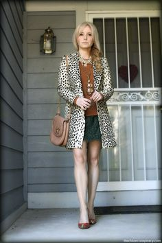 Outfit Of The Yesterday: Layers & Leopard (Emerson Fry Wingtip Coat in Leopard Linen) | t h e (c h l o e) c o n s p i r a c y : fashion + life + style