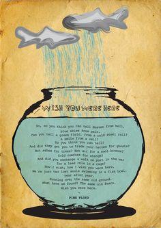 Wish You Were Here ~ Pink Floyd by David Segura, via Behance