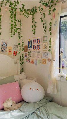 Indie Room Decor, Cute Room Decor, Room Design Bedroom, Room Ideas Bedroom, Bedroom Inspo, Chambre Indie, Pastel Room, Cute Room Ideas, Pretty Room