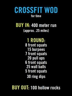 Quick crossfit workout - would be better with 2 rounds. My time: 12:33.