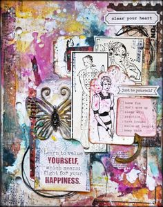 Domestic Goddess - Art Journal page by Kelly Foster